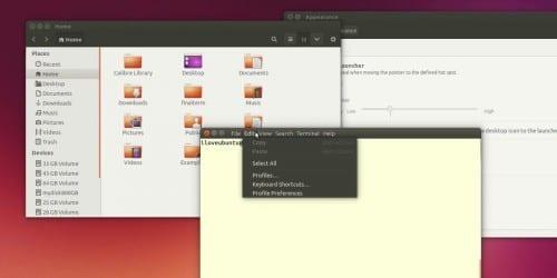 Ubuntu 14.04, menús en la barra de título
