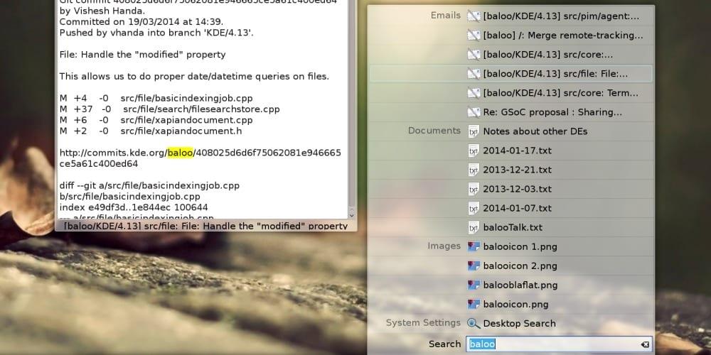 Milou, KDE Plasma