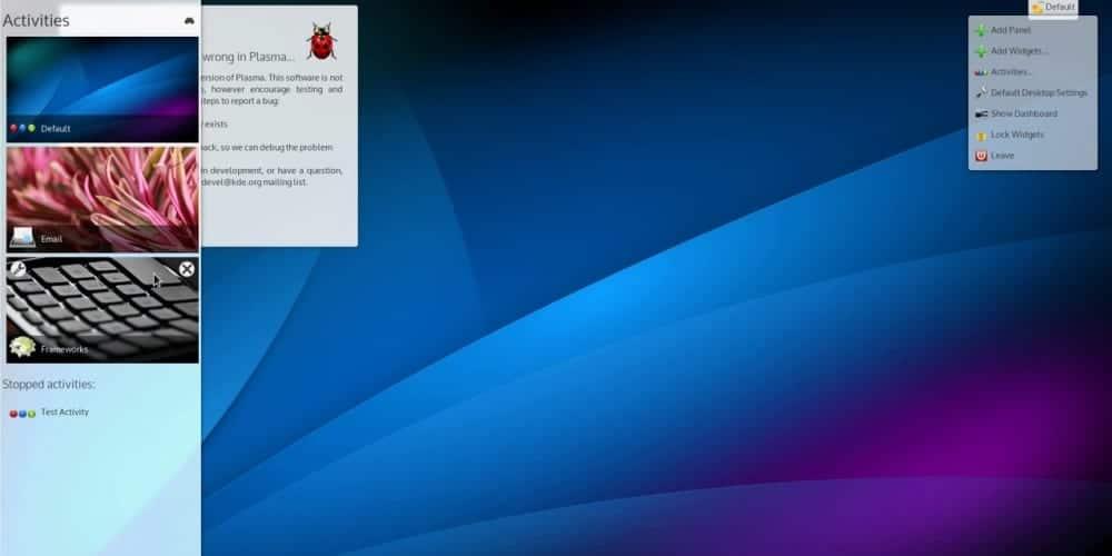 KDE Plasma Next