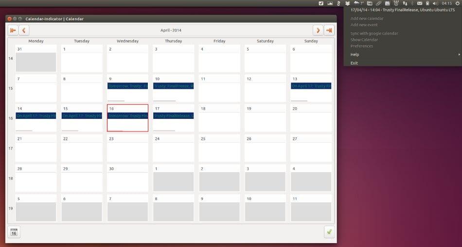 calendar appindicator