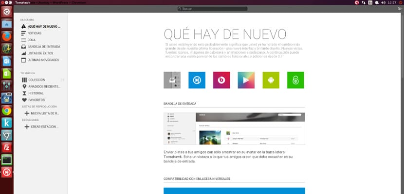 Tomahawk, un reproductor de música streaming para Ubuntu