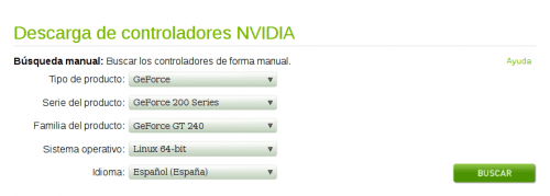 nvidia drivers privativos