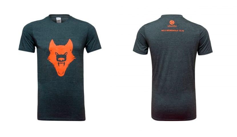 camiseta ubuntu willy werewolf