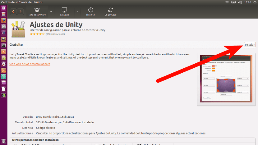 Instalar Unity Tweak Took