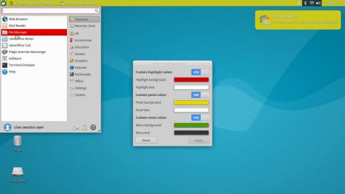 Cambiando los colores del tema en Xubuntu 16.04 LTS