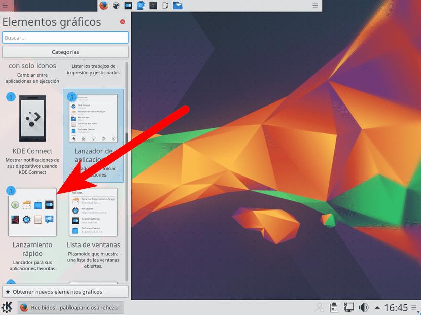 Lanzamiento rápido de Kubuntu