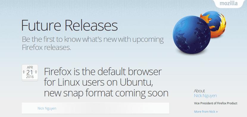 Mozilla anuncia que Firefox estará como paquete snap