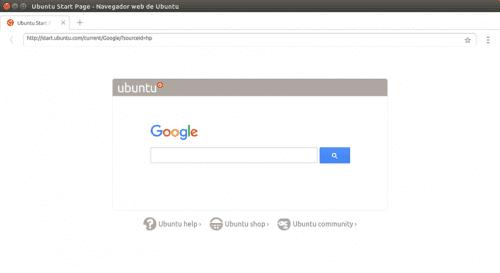 Navegador de Ubuntu