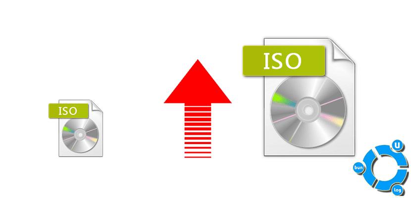 Aumento del tamaño de las ISO