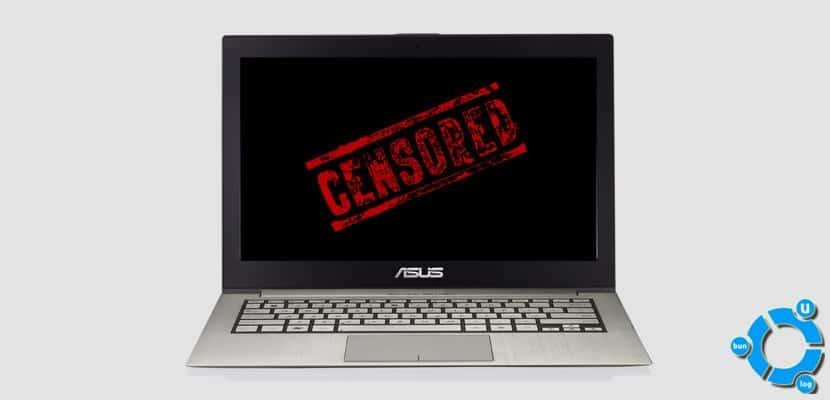 web censurada