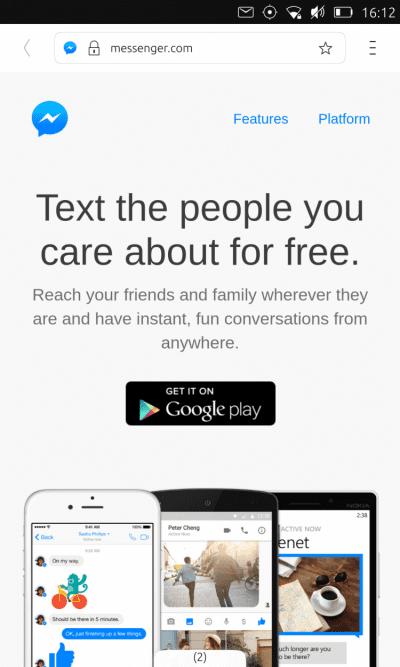 Facebook chat desde Ubuntu Phone hoy en día