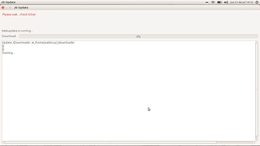 Instalador y actualizador de JDownloader