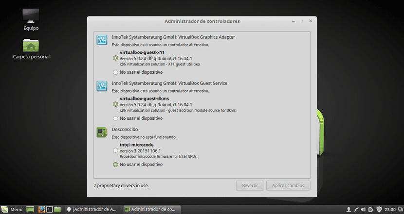 Administrador de Controladores de Linux Mint