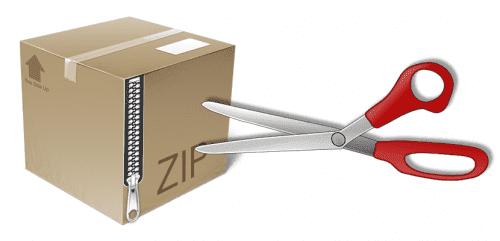 descomprimir archivos Zip