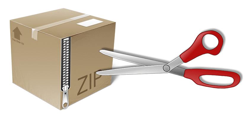 Dividir archivos Zip