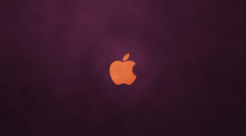 Logotipo de Apple con colores de Ubuntu