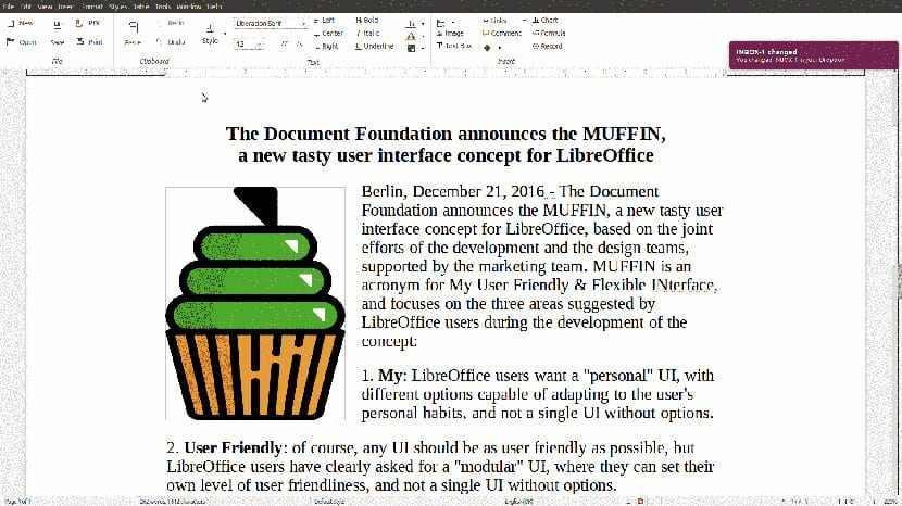 MUFFIN de Libreoffice