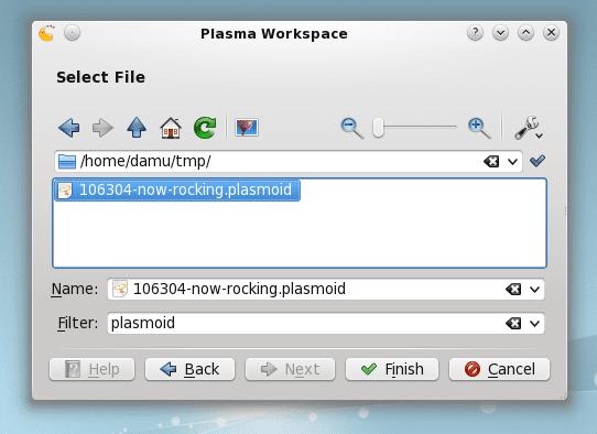 Añadir Plasmoides a Plasma