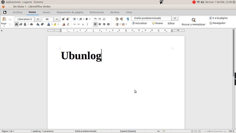 LibreOffice 5.3 - Interfaz Cinta
