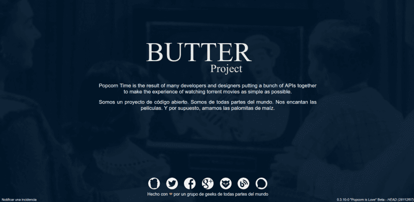 butter proyect Popcorn Time