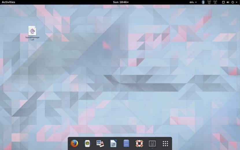 GNOME Shell con aspecto de Mac OS X