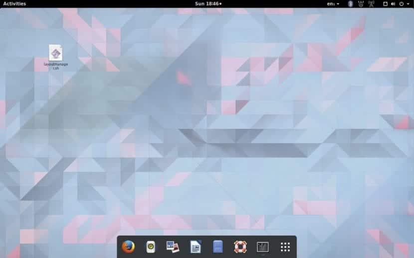 GNOME Shell con aspecto de Mac OS X