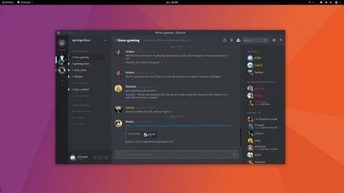 Discord para Ubuntu.