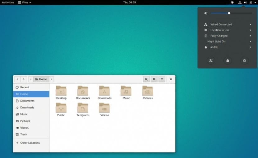 Entorno de escritorio Gnome Shell