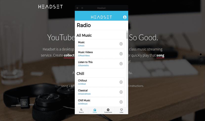 Headset radio