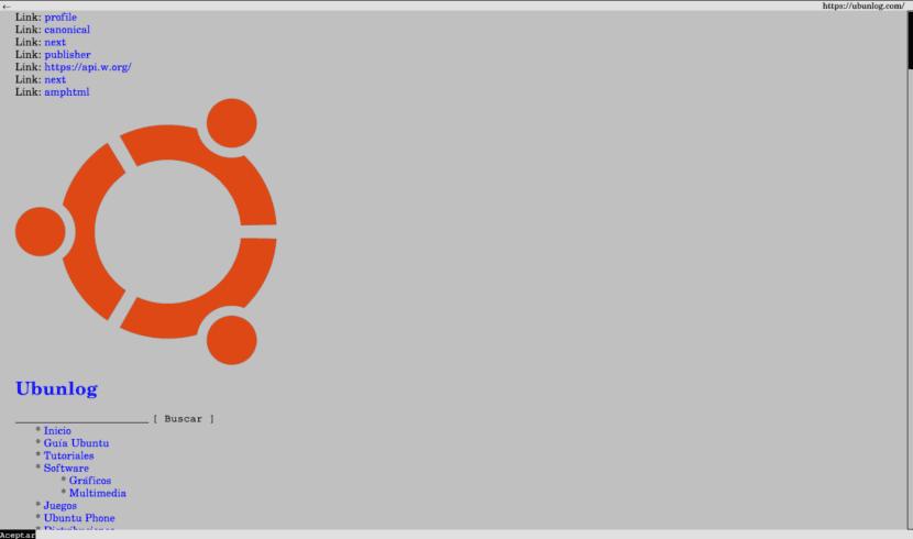 Navegador web para la terminal links2