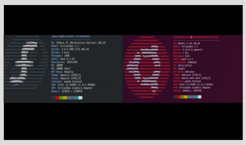 Neofetch en Ubuntu y Fedora