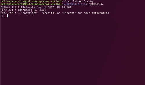 Shell de Python 3.6