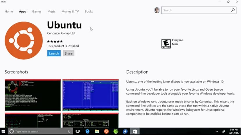 Ubuntu en la Windows Store