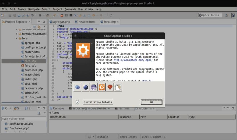 Aptana Studio 3, un gran IDE para programar en Ubuntu