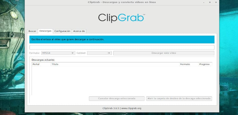 Descargar videos con ClipGrab