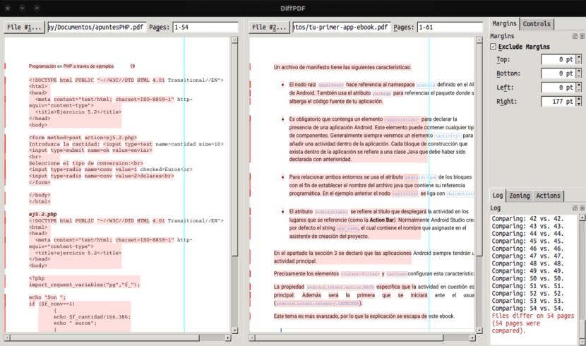 Diffpdf comparando pdfs