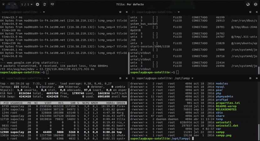 Emulador de terminal Tilix