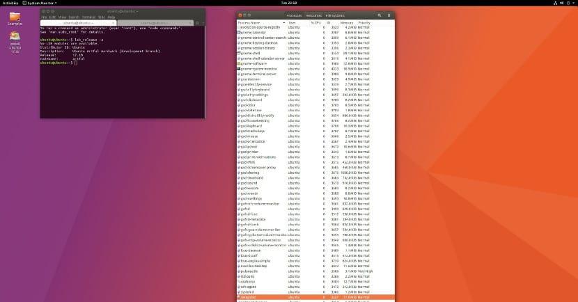Ubuntu 17.10 con Gnome-Shell