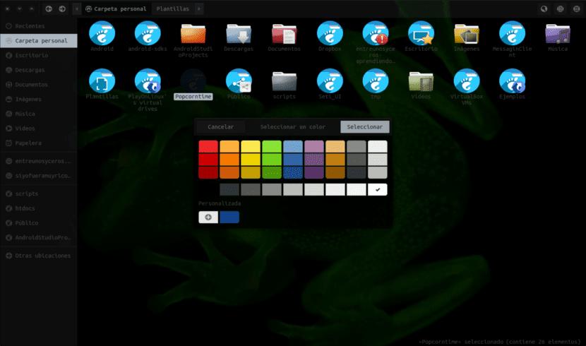 folder color selector de color