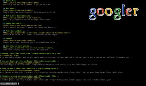 Buscador de terminal googler