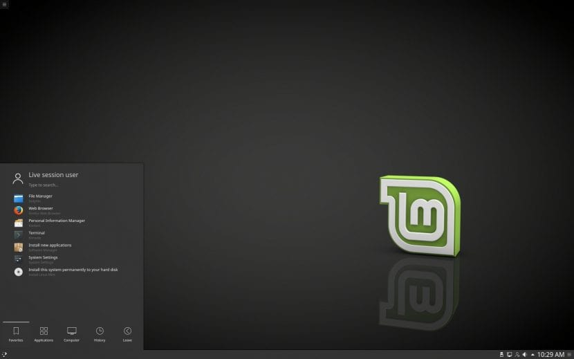 "Linux Mint 18.2 ""Sonya"" KDE Beta Edition"