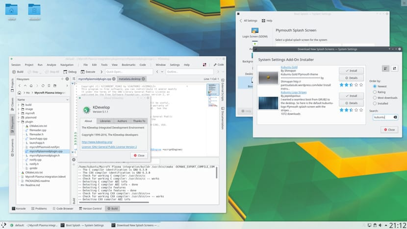 Plasma 5.10 en Kubuntu 17.04