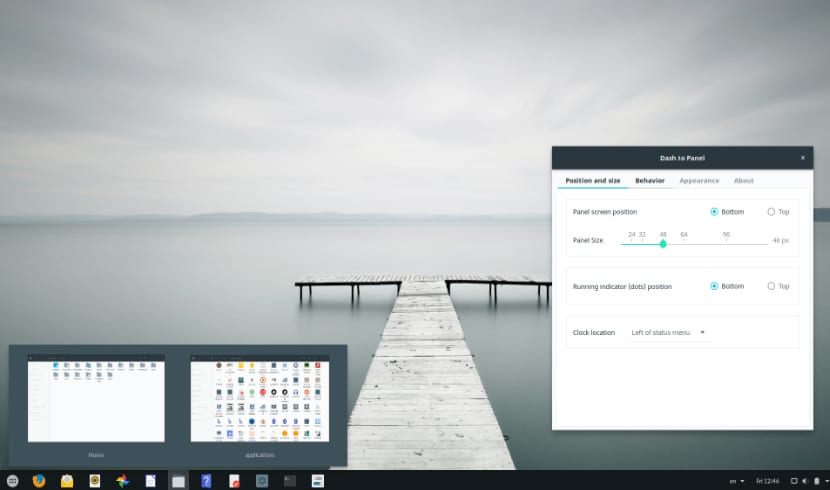 Window Peek en Dash to Panel