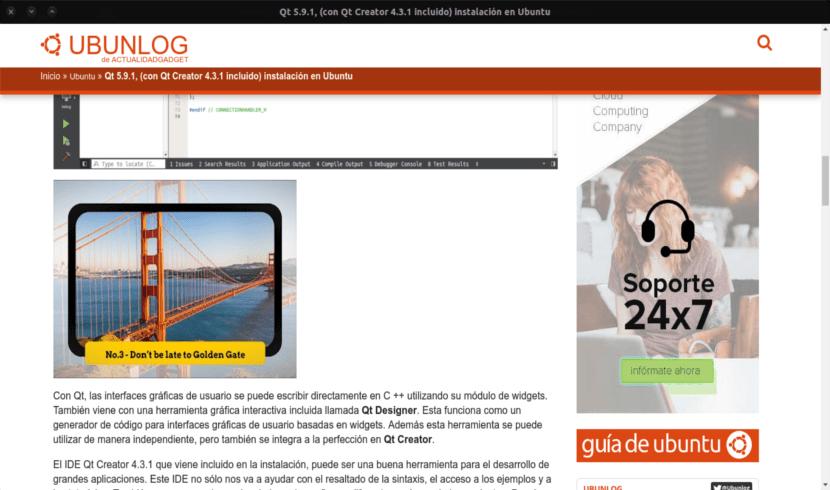 webapp ubunlog entrada