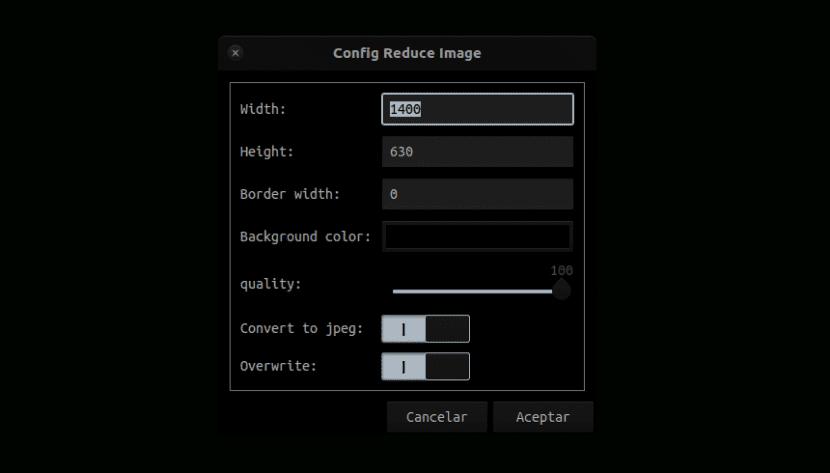 configuración reduce images