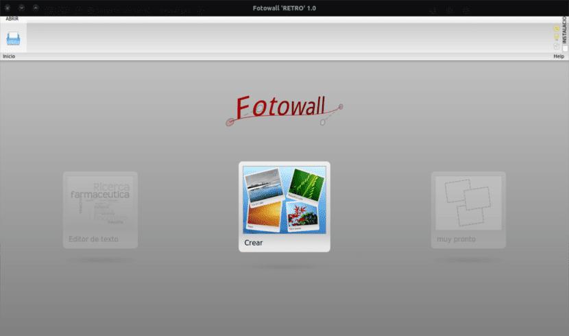 Fotowall página de inicio