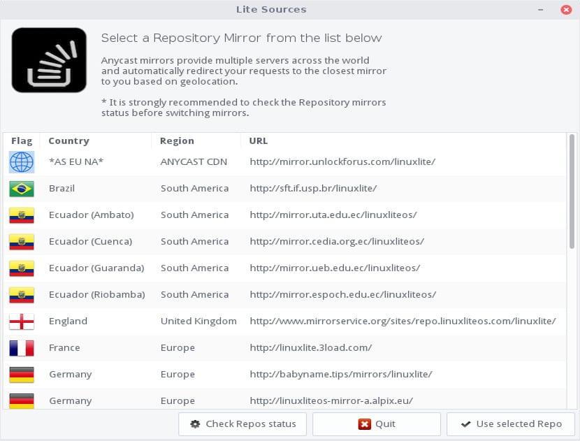 Repositorios Linux Lite