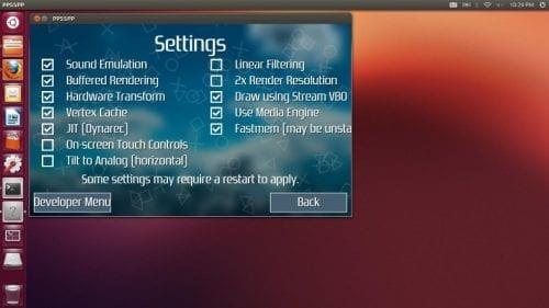 Emulador PPSSPP en Ubuntu