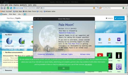 about navegador Pale Moon