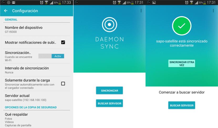 Daemon Sync Cliente
